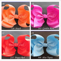Wholesale 15 off details about new style Girl Inch children Hair Bow Clip Grosgrain Ribbon baby girls hair bow drop shipping