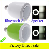 bulbs and lighting - For iPhone iPad Samsung Galaxy Wireless Bluetooth Audio Speaker with Adjustable E27 LED Bulb Light and RF Remote Control L0056
