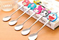 Wholesale 2015 new arrival cute cartoon coffee spoons