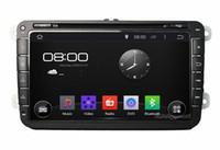 Wholesale 4 Core Android HD quot Car Radio Car DVD Player for Volkswagen VW Caddy Golf Jetta Polo Sedan Touran Passat EOS Caddy Skoda Seat