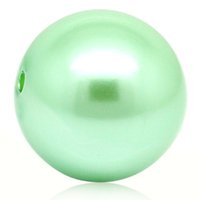 Wholesale 2015 New Acrylic Pearl Imitation Spacer Beads Ball Round Light Green mm Dia