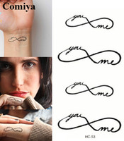 Wholesale You me couples temporary tattoo sex products body art waterproof sticker fake tattoos wrist neck tatto gift tatoo men women