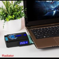 Wholesale Mini Laptop Notebook Fan Cooler Cooling With LCD Temperature Display USB Cooler Air Extracting Cooling Fan Top Quality C1979