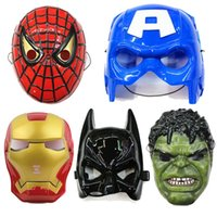 Wholesale spiderman plastic mask batman mask costume Captain America ironman avengers hulk mask halloween mask in stock