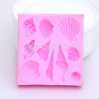 Wholesale Hot sales Lovely shell silicone mold Fondant Cake Decorating Tools Silicone Soap Mold Silicone Cake Mold
