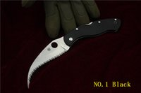 Wholesale Hot Sale Spyderco C12GS Civilian G Folding Knife quot VG Blade G Handle Serrated Blade Hunting Knife Outdoor Knife