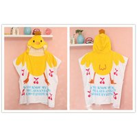 Wholesale 60 cm multistyle children Cotton cloak Sleeping towel Breathable Ultra soft Robes for kid baby Animal Patterns Bathrobes