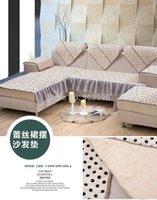 Wholesale Peony style Sofa cushion fabric sofa cushion upscale fashion European pastoral towel slipcover slip cover