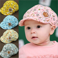 baby cricket - 3 Months Baby Girls Fashion Beret Hats Child Baseball Caps Kid Peaked Hats Infant lovely Cricket Cap a217
