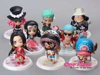 Wholesale New Mini Anime One Piece Mini Action Figures for Kids Toy Gift Fashion Luffy Chopper Action Figure Model