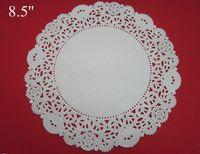 Wholesale 500pcs white round lace paper doily cake food paper doyley pad