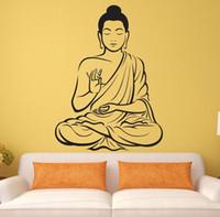 asian wall stickers - Home Decor Wall Sticker Vinyl Wall sticker Buddha Yoga God Om Wall Decal Meditating Buddha India Asian Spiritual Awakened One