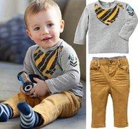 Wholesale Kids Clothing Sets Long Sleeve T Shirt Pants Autumn Spring Children s Sports Suit Boys Clothes