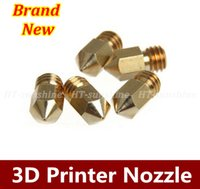 Wholesale High Quality D Printer Nozzle Mixed Sizes mm mm mm Extruder Print Head For MM MK8 mm Makerbot order lt no track
