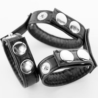 Wholesale Leather Ball Stretcher Weight Scrotum Stretchers With Cock Ring Adjustable Size Restraint Sex Toy For Men