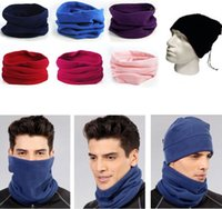 Wholesale 3 in Fashion Multipurpose Polar Fleece Neck Warmer Polar Fleece Snood Hat Neck Warmer Ski Wear Scarf Face Mask Hat