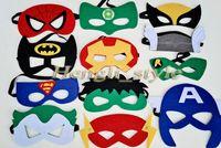 Wholesale 52 Colors Mix Superhero Kids Cartoon Eye Masks Halloween Children Mask Cosplay Masquerade Mask Party Eye Mask Superman Batman Mask Eye Shade
