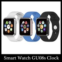 apple connecter - Hot Sale Smart Watch GU08s Clock Notifier Bluetooth Connectivity smart iphone The newest Smartwatch reloj inteligente Android Connecter