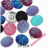 Wholesale new fashion Snaps Jewelry Mixed Ginger Snap Buttons For Snap Button Charm Jewelry mm