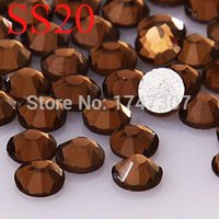 Wholesale 1440pcs SS20 mm Deep Coffee Crystal glass rhinestone sewing supplies rhinestone fashion Non Hot Fix Rhinestones