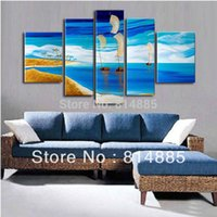 beautiful pictures world - Ship In the Beautiful World Handmade Modern Abstract Oil Painting On Canvas Wall Art Gifts Top Home Decoration Z030