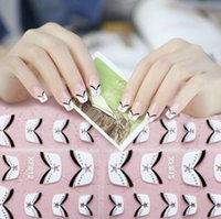 beautiful stencils - New arriving Chic DIY French Style Manicure Nail Art Tips Tape Sticker Guide Stencil will make your nails more beautiful