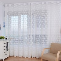 drapes curtains - Feitong New Feather Tulle Door Window Screening Curtain Drape Panel Sheer Scarf Valances Wholesales