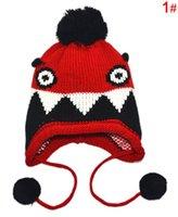 venda por atacado baby wholesale-2014 miúdos quentes bonés de Inverno bonito malha bebê chapéus atacado com frete grátis