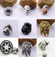 Wholesale 2016 New Star War Brooch Pins Star Wars The Force Awakens BB8 BB Droid Robot Brooch Pins Jedi Knight Darth Vader Brooches Pins