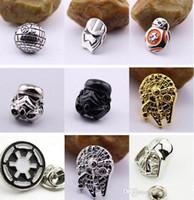 Wholesale 2016 New Star War Brooch Pins Star Wars The Force Awakens BB8 BB Droid Robot Brooch Pins Jedi Knight Darth Vader Brooches Pins