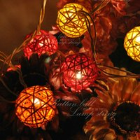 bamboo string lights - Novelty LED Ball string Bamboo strings Christmas Lights fairy wedding garden pendant garland Decorative