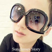 Wholesale Square Sunglasses Wholesale Oversized - Wholesale-Womens Retro Oversized Sunglasses Square Frame Bent Leg Celebrity Goggles Wholesale