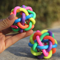 Wholesale 6CM Pet dog toys sound colorful bell ball pet Supplies vocal Environmental soft bite resistant juguetes for dogs