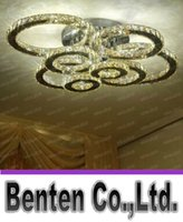 Wholesale New Ecopower luxury LED crystal chandelier home decoration lighting crystal lamp ring design guarantee LLFA4969F