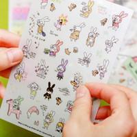 Wholesale C02 DIY album decoration diary decorative stickers cute bunny leaflets big glasses price