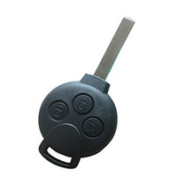 Wholesale 3 Button Cover Holder Remote Fob Case Key Shell for Benz Smart Fortwo Black