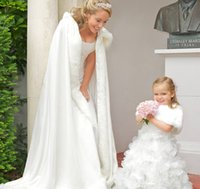 Wholesale White Faux Fur Bridal Wrap Coats Winter Wedding Bridal Accessories Custom Made Plus Size Long Warming Cloak