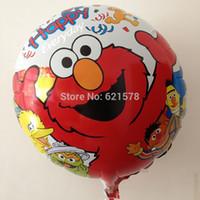 Wholesale 10pcs ot inch round Sesame Street elmo balloon for children party decoration mylar balloon foil helium