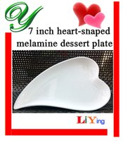 plastic plates - Melamine dinner plates dishes outdoor picnic dinnerware wedding buffet serving tray white heart shaped sushi salad dessert plastic plates