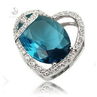 beautiful list - Shinning The new listing Noble Generous MN855 Beautiful Blue Cubic Zirconia Best Sellers Copper Rhodium Plated Recommend Pendants for women