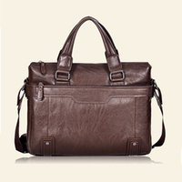 best computer briefcase - Best Sell Famous Design PU Leather Men Bag Business PU Leather Messenger Bag Vintage Cross Body Computer Bag Briefcases