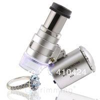 60x LED iluminado lupa joyeros lupa vidrio de vidrio Microscopio