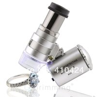 Wholesale 60x LED Lighted Magnifier Jewelers Loupe Loop Glass Microscope