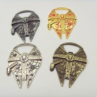 Wholesale 4 color High quality Star Wars Millennium Falcon metal alloy bottle opener soccer gifts keyring souvenirs in kitchen