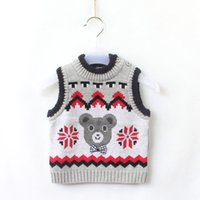 bears sweater vest - new winter sweater vest and baby bear Korean boy