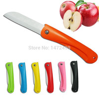 ceramic knife - 1 piece Goldpoly inch ceramic folding knife kitchen knife fruits Portable Ceramic fruit knife cooking tools