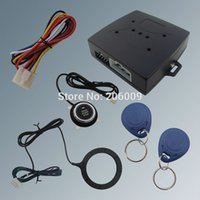 Cheap Hot Selling RFID Car Alarm System Finger Engine Start Stop Button And Transponder Immobilizer!!!
