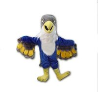 Wholesale 2015 New Custom made Blue Falcon Mascot Costume Cartoon Character Eagle Bird Mascotte Mascota Outfit Suit Fancy Dress Suit