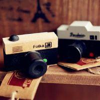 amp rubber - Vorkin Lovely Model Korea Wooden Retro Camera Rubber Stamp Seal Gray amp amp Brown DIY