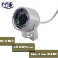 Wholesale YBR SONY CCD TVL Indoor security CCTV camera LED home Video Surveillance hd night vision video mini Dome Camera
